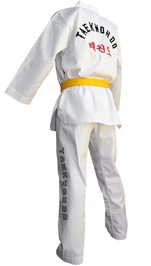 White collar Dobok taekwondo DOUBLE Y \