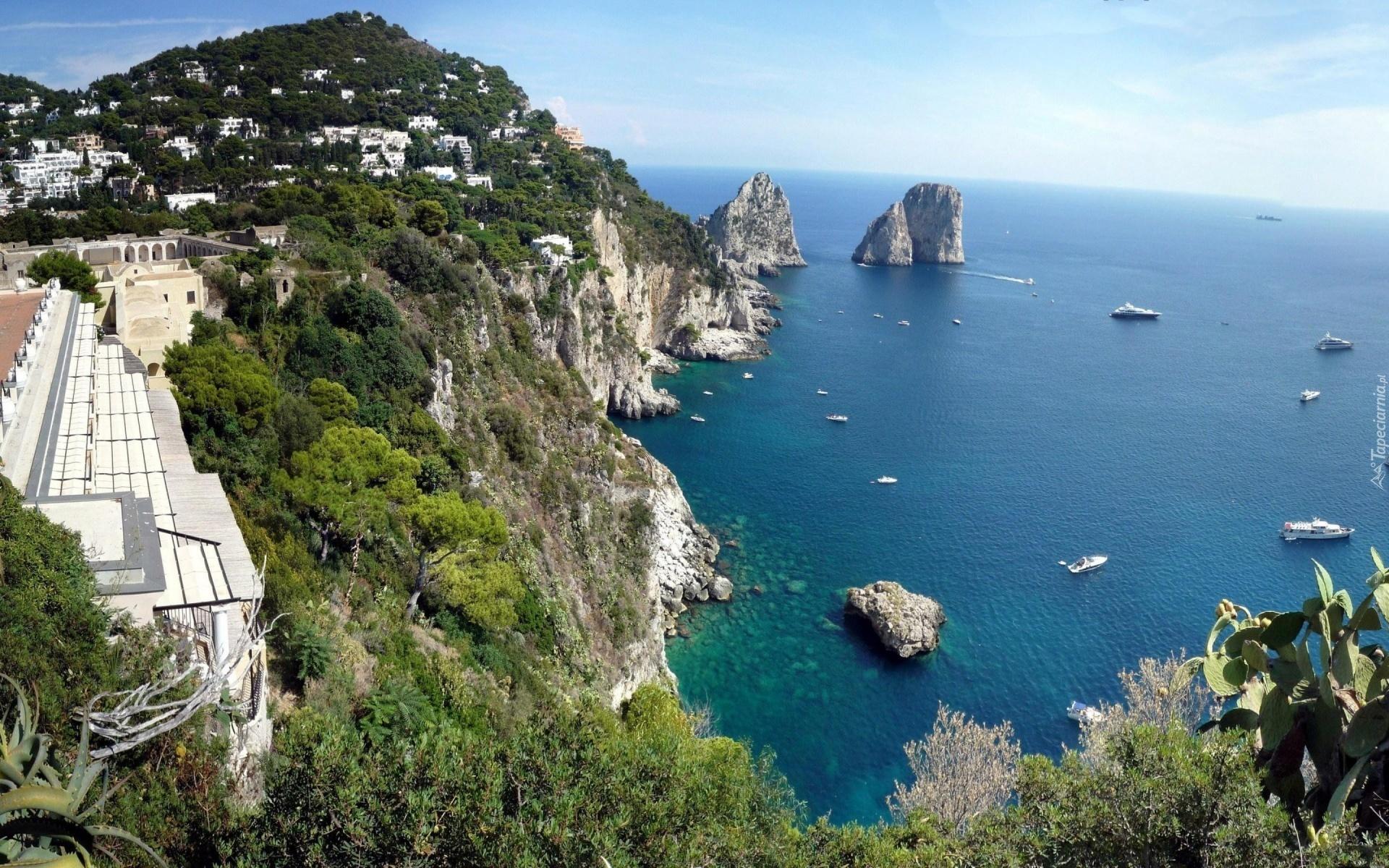 Albania Wallpaper Hd Morze Wyspa Capri