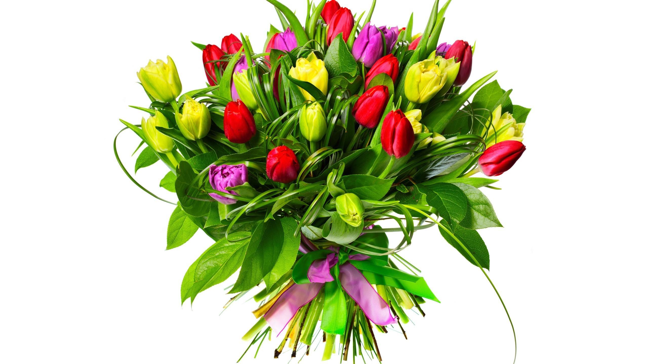 Wallpaper Images Hd Flowers Kwiaty Bukiet Tulipany
