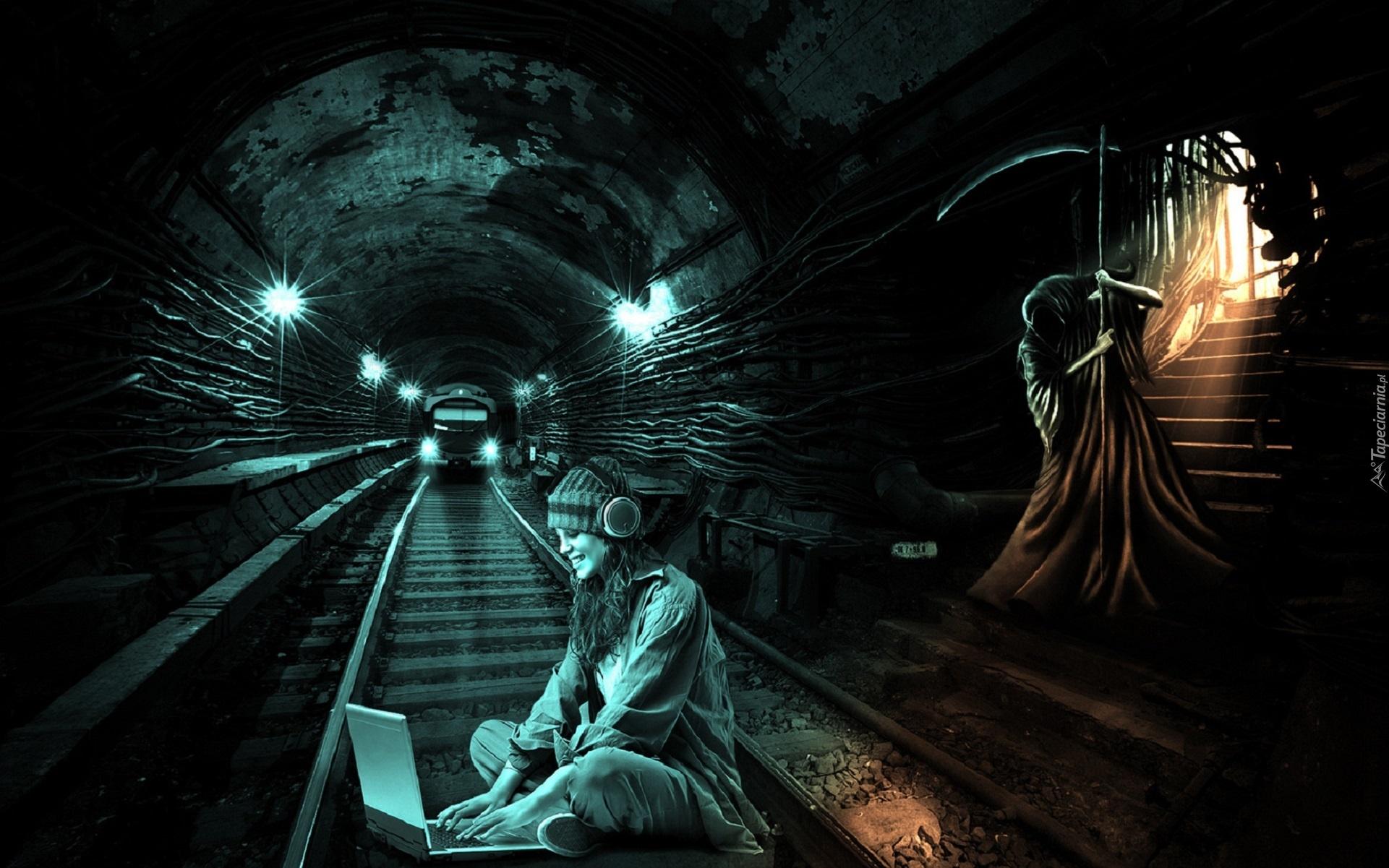 Steampung Girl Holding Skull Wallpaper Metro Dziewczyna Śmierć