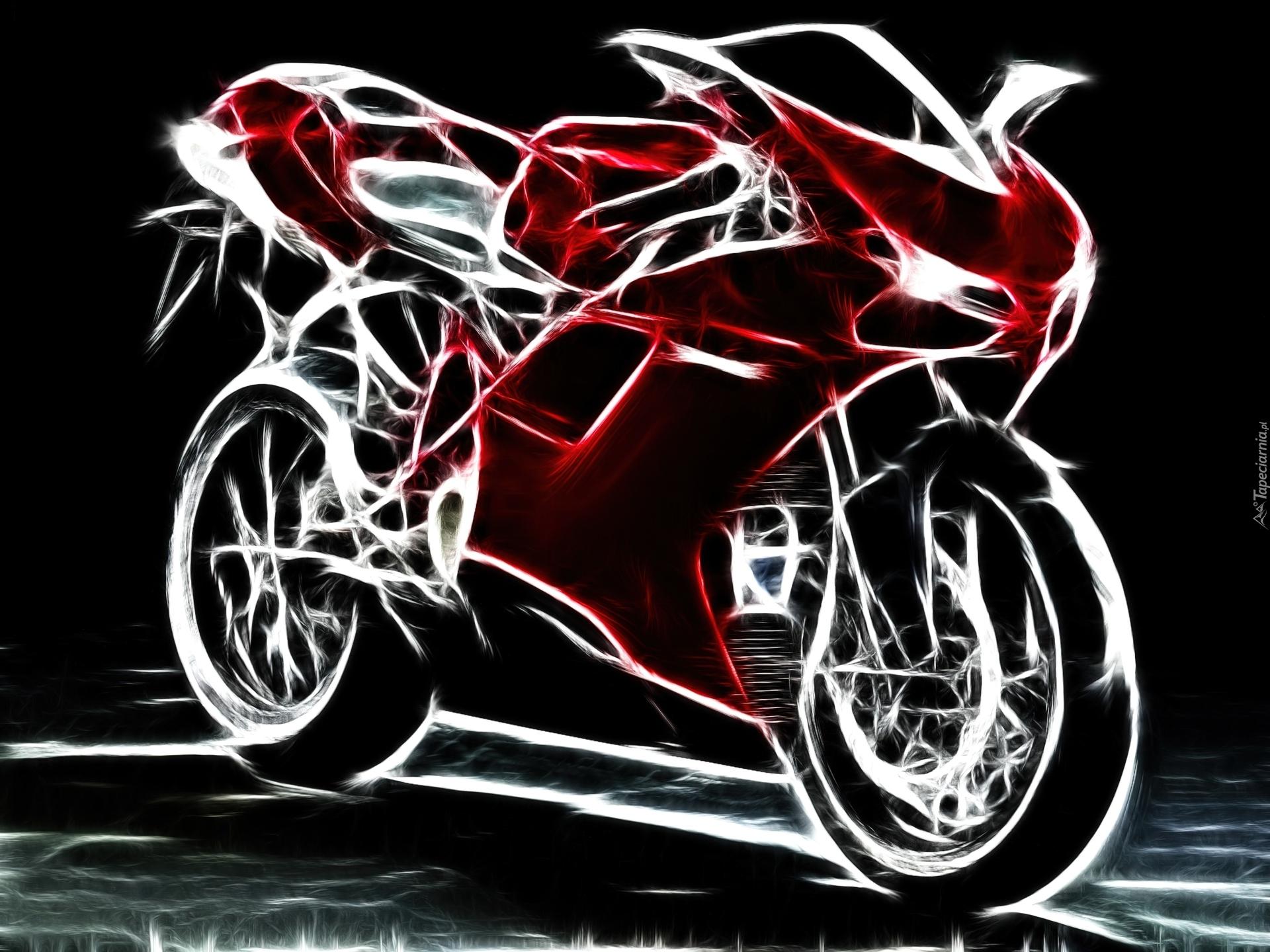 Royal Enfield 3d Wallpaper Czerwony Motocykl Grafika Ducati 1198