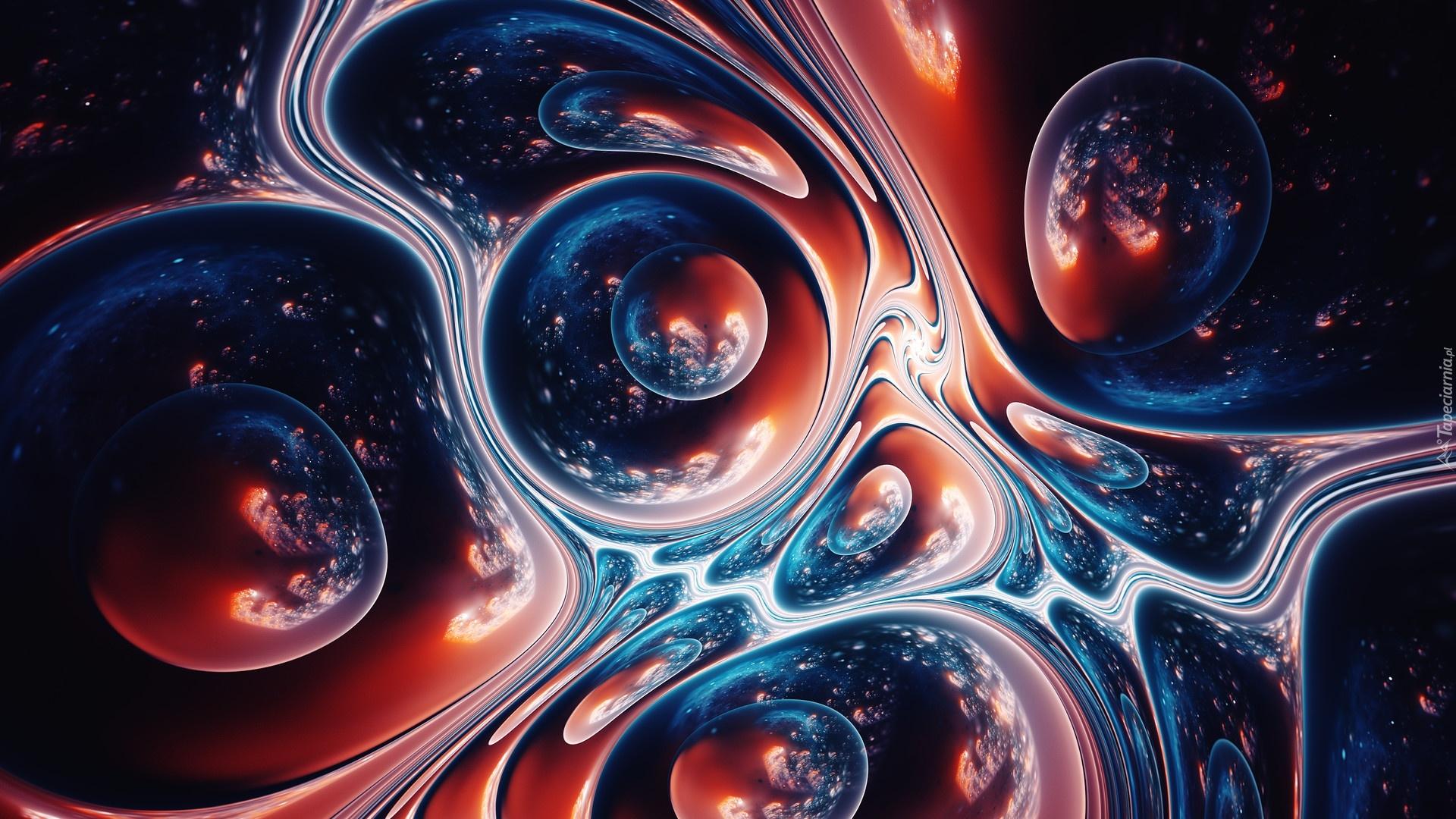 3d Rainbow Psychedeli Wallpaper Tapety Abstrakcja