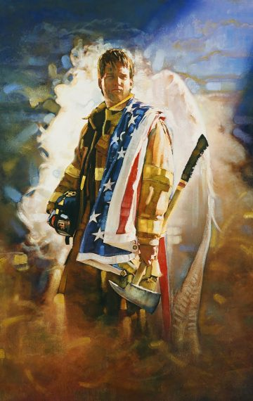 Firefighter Quotes About Courage Wallpaper Ron Dicianni No Greater Love Artwork
