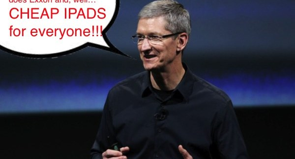 Apple Town Hall: Tim Cook Says, Cheap iPads Good, Android Bad