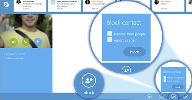 Skype for Windows 8 updated, gains contact blocking