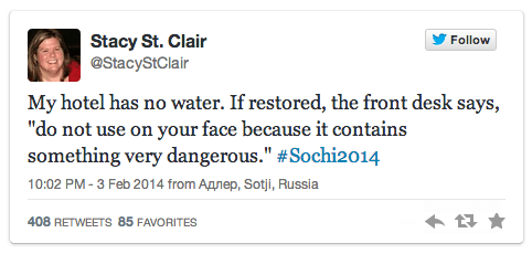 Don't Drink the Sochi Water