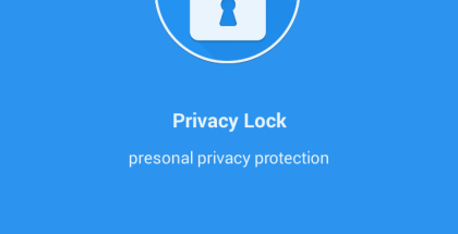 Privacy Lock - Welcome Screen