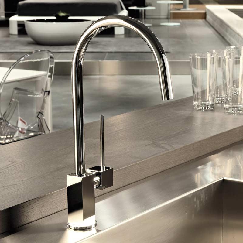 Buy Quadro Swan Neck Sink Mixer Chrome 16759031 Gessi
