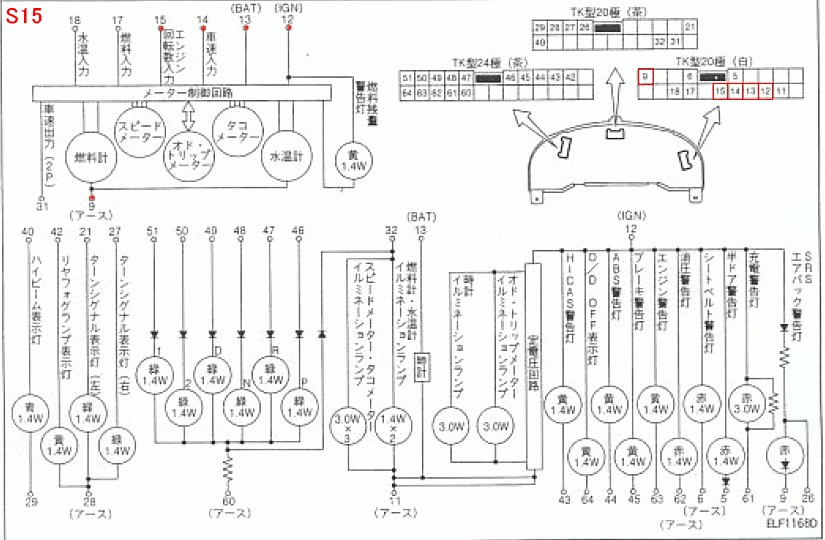 180sx cluster wiring diagram