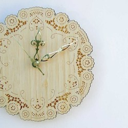 laser cut doily clock by uncommon - click image for more info