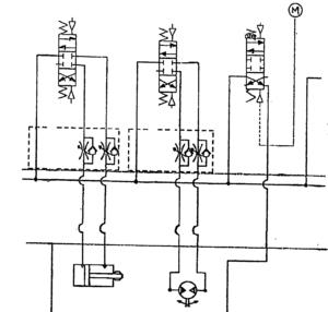 hydraulic manifold block schematic