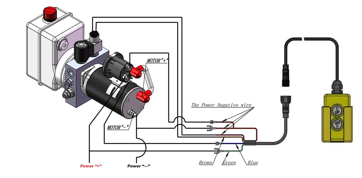 How to Wire Hydraulic Power Pack,Power Unit Diagram Design