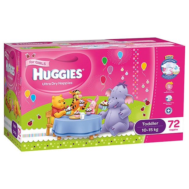 Toddler Shoes Online Girls' Huggies Nappies 72 Pack - Toddler | Target Australia