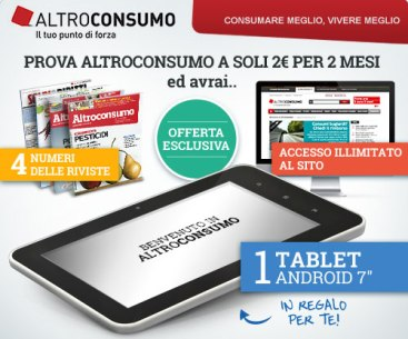 Tablet in omaggio