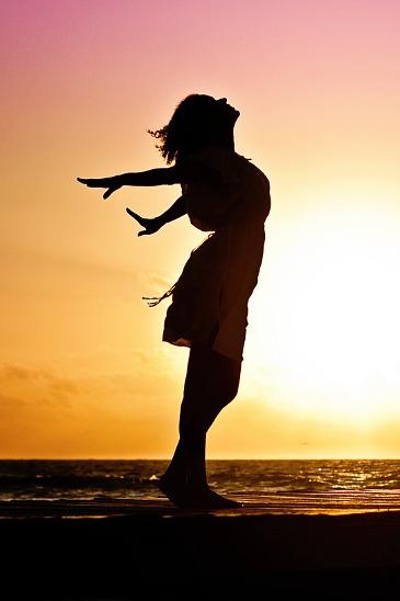 woman-sunset