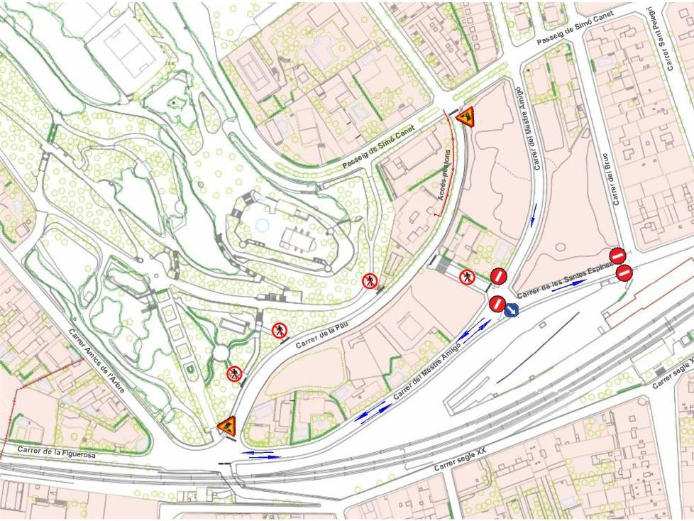 Modificacions provisionals de circulació amb motiu de les obres del carrer de La Pau · Tàrrega