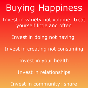 How to buy happiness - six secrets