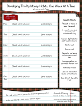 Thrifty Habits Planner