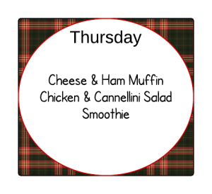 Autumn Lunch Planner - Monday - Autumn Lunch Planner Thursday