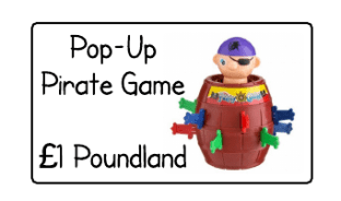 Pop-Up Pirate from poundland