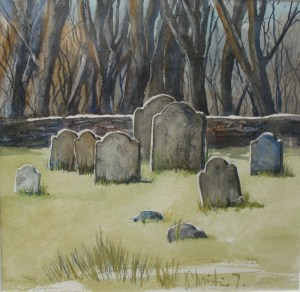 IMG_1376 Cathy's painting of grave stones