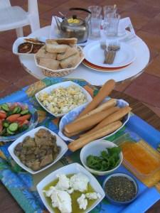 Breakfast at my aunt's home in Jordan