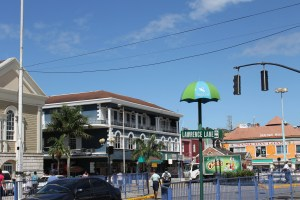 Downtown Montego Bay looking from Sam Sharpe Square.