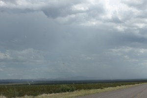 Rain to the south.