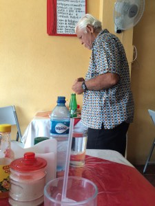 Our proprietor. I think his wife was doing all the cooking.