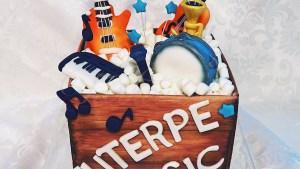 Tarta Caja de Instrumentos Musicales Tarturumies