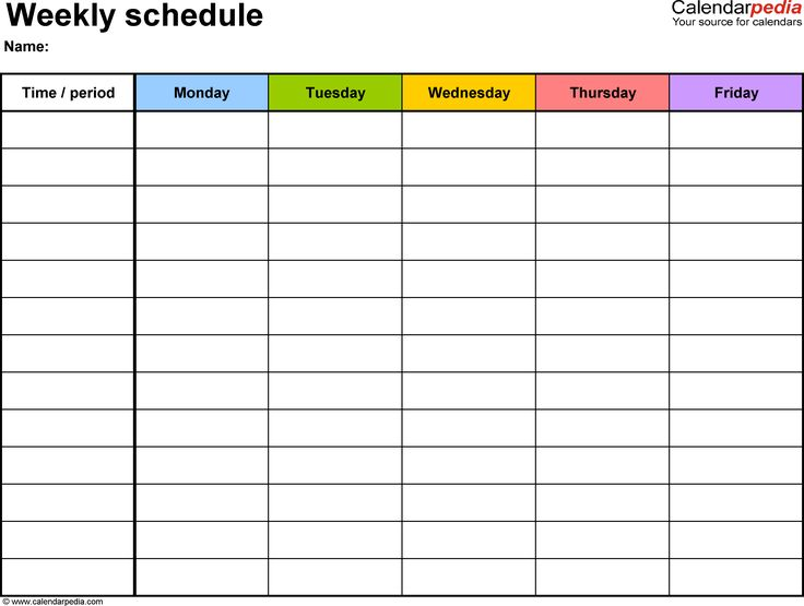 Daily Schedule Template task list templates