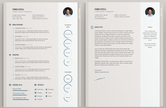 stylish cv templates free download