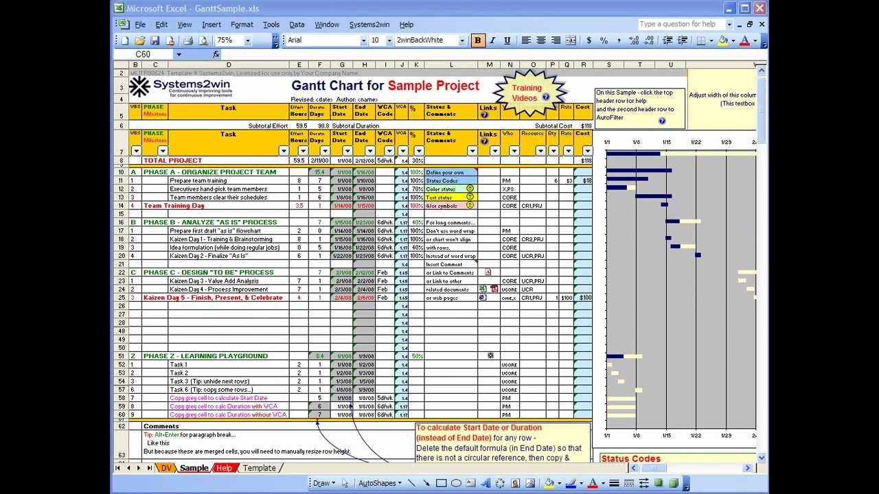 free excel project plan template download