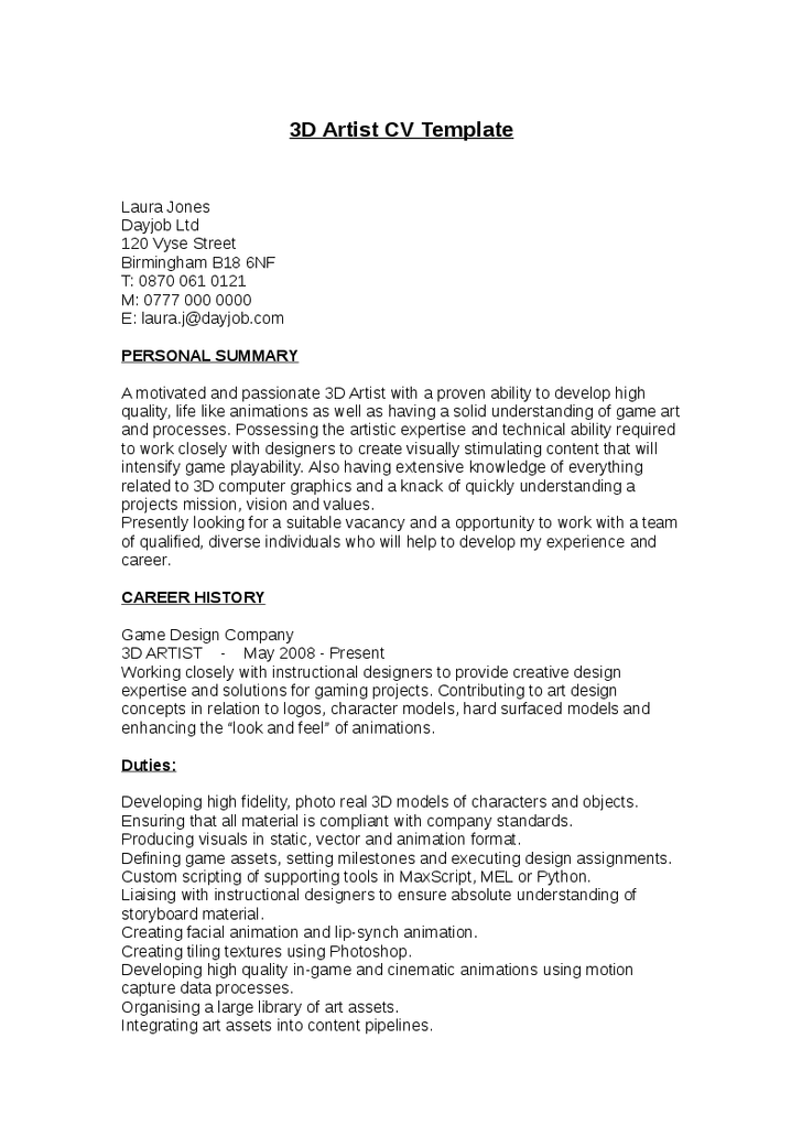 template for teenager resume