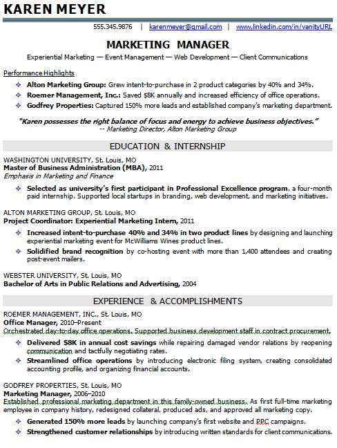 resume template for entry level sales