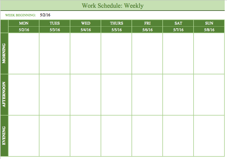 Free Schedule Template task list templates