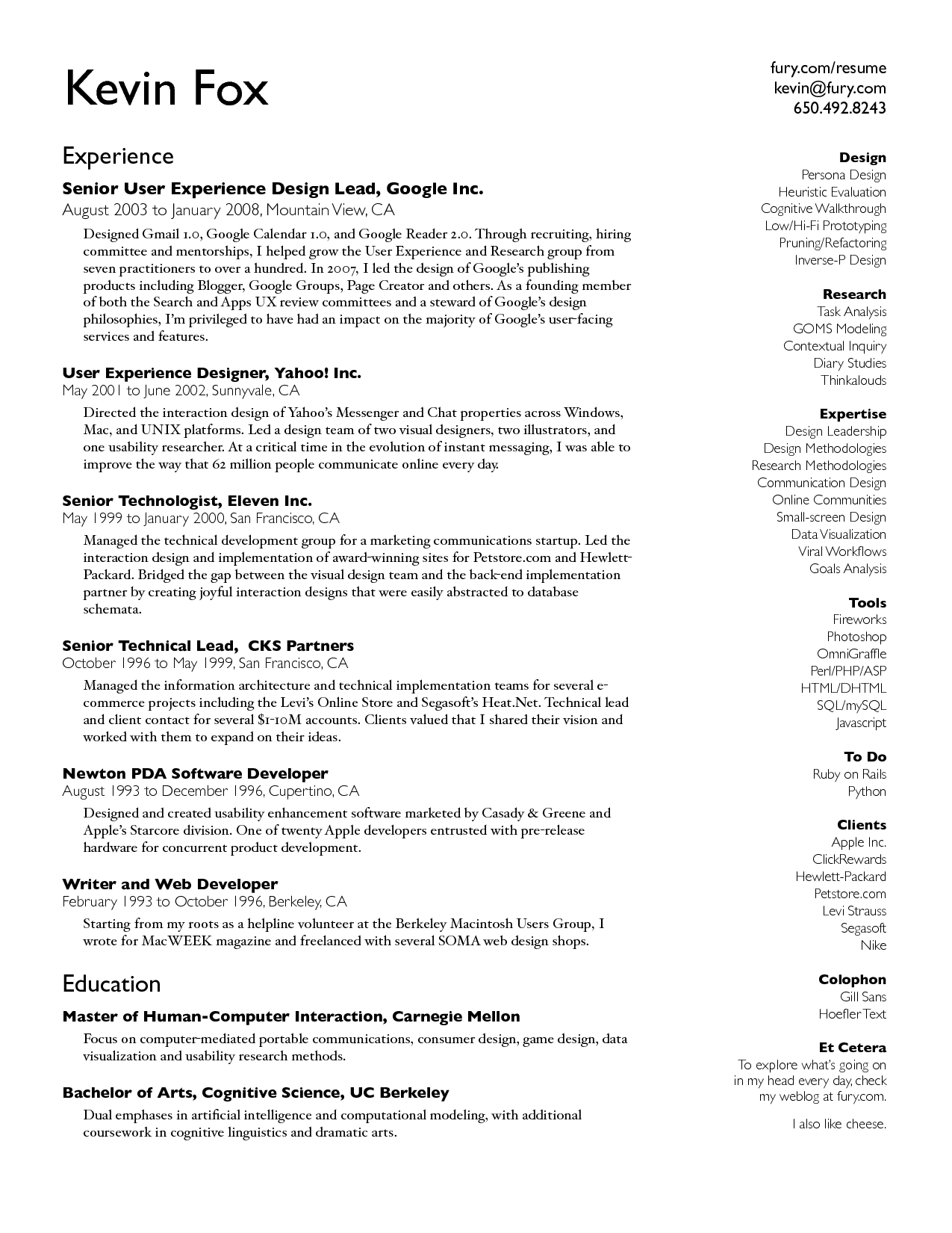 make a resume google docs