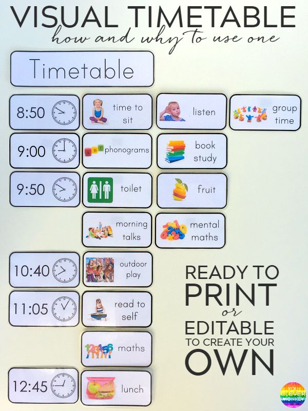 first week back daily visual schedule for kids free printable