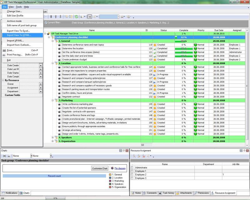 Online vs desktop task list