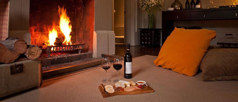 Tasmania Luxury Accommodation Fireplace