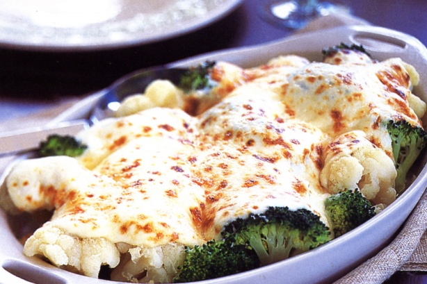 Paleo Broccoli and Cauliflower Au Gratin