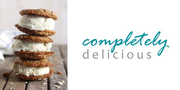 Oatmeal Cream Pie Ice Cream Sandwiches by Completely Delicious