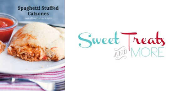 Spaghetti Stuffed Calzones from Sweet Treats and More