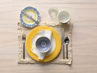 informal table setting | Brokeasshome.com