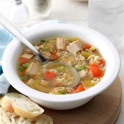 Small Of Turkey Rice Soup