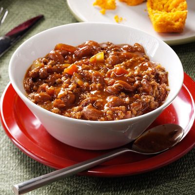Hearty Beef & Bean Chili Recipe | Taste of Home