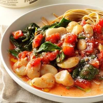 Tomato & Garlic Butter Bean Dinner Recipe   Taste of Home