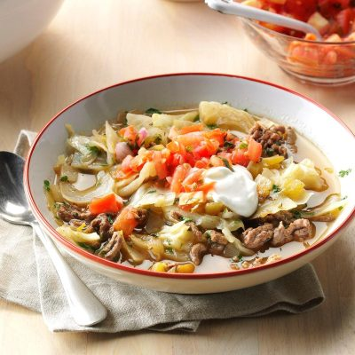 Mexican Cabbage Roll Soup Recipe | Taste of Home