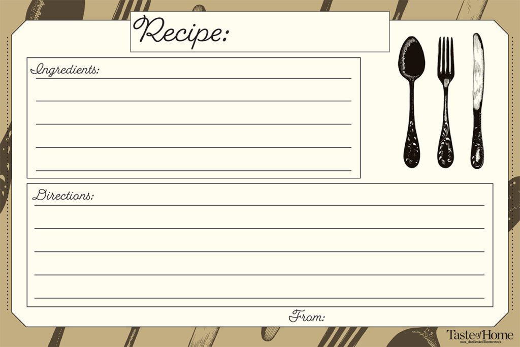 10 Beautiful Recipe Cards (FREE Printable Included!) Taste of Home