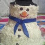 Snowman cake1